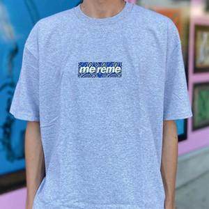 19FW Бандана Box Логотип футболки для мужчин Женщины Пара TEE кешью Цветы Отпечатано с короткими рукавами дизайнер футболки Summer S-XL