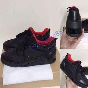 حار جديد مصمم أحذية رياضية المسامير أوريليان شقة مدرب الأحمر الرجال أسفل الأحذية السوداء أوريليان احذية عارضة في الهواء الطلق مدرب مثالي الجودة