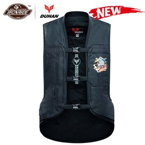 DUHAN New Motorcycle Jacket Air-bag Vest Motorcycle Vest Air Bag System Protective Gear Reflective Motorbike Airbag Moto