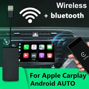 Coika mais novo Wireless Carplay Dongle para Android Car Head Unit Screen iPhone Android Auto