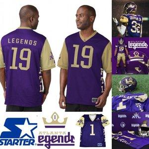 Mens Atlanta Legends Jersey 9 Кэмерон Низиалек 44 Джефф Овербо 52 Халил Басс 77 Брэндон Пертиль Альянс по футболу американского футбола