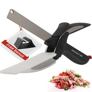 주방 다기능 스마트 컷 가정용 가위 원형 클립 스프링 똑똑한 부엌 칼 음식 가위 콤보