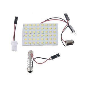 10x 최신 12 36 48 LED 패널 슈퍼 화이트 자동차 독서지도 램프 3528 SMD 자동 돔 인테리어 전구 지붕 라이트