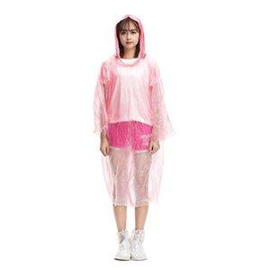 Disposable PE Raincoats moda One-time Brasão Raincoat descartável Poncho Rainwear viagem Chuva Atacado One-time Rainwear emergência