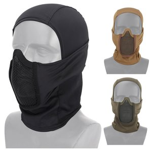 Freie Airsoft Schießen Gesichts-Schutzausrüstung, Metall, Stahl Wire Mesh Hilft Face Tactical Airsoft Hood NO03-016 Maske