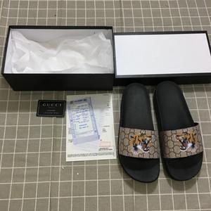 Vender 35-46 Sandalias de diseñador de marca con estampado de tigres de alta calidad Chanclas de diseñador de moda para hombres y mujeres Zapatillas