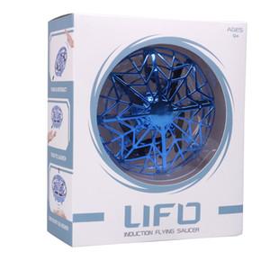 2019 UFO Gesto Induzione Sospensione Aircraft Smart Flying Saucer con luci a LED UFO palla in volo di aerei RC Toys principale del regalo induzione Drone
