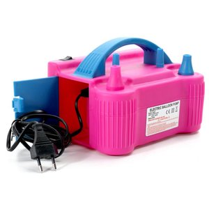 110V-240V Electric High Power Two Nozzle Air Blower Balloon Inflator Pump Fast Portable Inflatable Tool Electric Air Pump