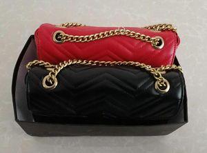3As de calidad superior de cuero clásico bolso crossbody oro plata cadena venta caliente nuevas mujeres marmont bolsas bolsos bolsos de hombro bolsas de asas mensajero