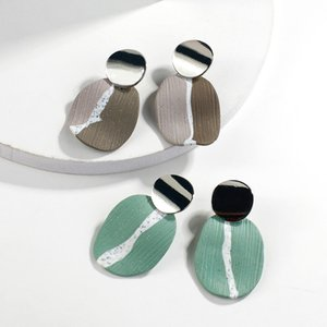 Korean Handmade Polymer Clay Drop Earrings For Women Unique Design Soft Clay Statement Earrings Female Gift 2020