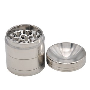 Premium Concave Grinders 3 sizes 40 56 63mm Metal Smoking Herb Grinders 4 Layers Zinc Alloy Concave Surface Tobacco Herb Hand Muller