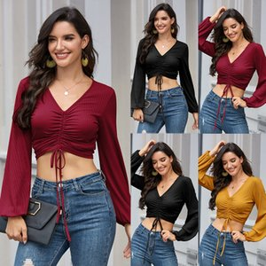 Womens T Shirt for Spring & Autumn Fashion Long Sleeves Solid Color Sexy Women Shirts High Quality Women Casual T Shirts Size S-XL