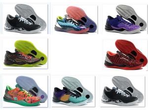 2020 Sneakers Mamba Ayakkabı WTK Prelude Yansıma Yıl Yılan Noel 2012 Satılık Erkekler için Yeni 8 Basketbol Ayakkabıları
