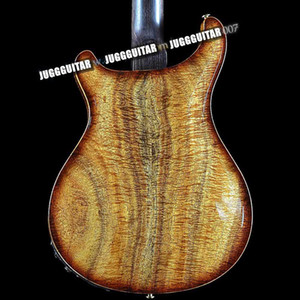 Reed Smith Hollow body II Righteous Private Stock Satin Koa Flame Maple Vintage Brown Electric Guitar Double F Holes, Abalone Birds Inlay