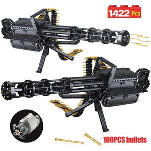 1422Pcs Technic Cidade Gatling armas de emissão modelo Building Blocks para WW2 Arma Legoing militar do exército Tijolos Brinquedos para os presentes dos meninos