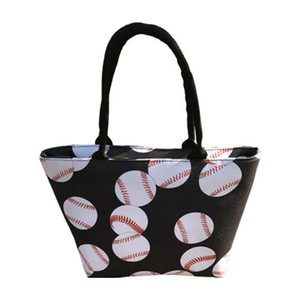 5styles Baseball Tote Handtasche Canvas Sporttaschen Softball-Tasche Fußball-Fußball-Basketball Cotton Canvas Große Schultertasche neu GGA3499