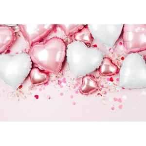 Valentine Photography Background Cloth Heart Balloon Print Photo Backdrops Child Adult Birthday Wedding Decor Party Supplies