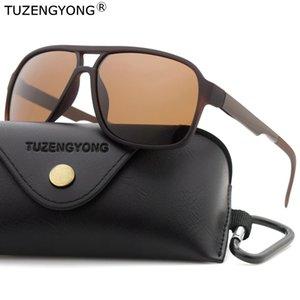 TUZENGYONG di marca Occhiali da sole polarizzati classica, da uomo nuovi uomini di modo di moda di guida di Eyewear di viaggio Occhiali da sole UV400 Occhiali