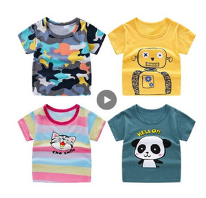 2020 Children's short sleeve t-shirt cotton t-shirts boy kid boys and girls tops shirts children's T-shirt summer