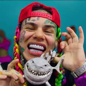 6ix9ine squalo ciondolo pieno di zircone personalità Hip hop rap collana gioielli regalo degli uomini perline Charms Collane