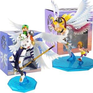 Anime Digimon Adventure Angemon Angewomon Abbildung Takaishi Takeru Yagami Hikari PVC-Modell-Spielzeug Sammlerpuppen T200603