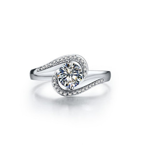 Nice Quality 0.5CTW 5mm G-H Moissanite Wedding Ring CHARLES & COLVARD WARRANTY 925 Sterling Silver Synthetic Diamont Ring