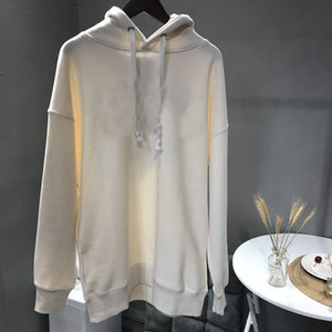 100% coton pour femmes Sweats à capuche Hip Hop mince Polaire femme Sweats à capuche Blanc Manteaux Pull femme Sweats à capuche d'hiver Sweat-shirt Printemps d'hiver