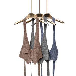 2019 chaleco de verano de algodón de lino mujeres sueltan el simple Escudo salvaje V-Cuello casual de las señoras delgado femenino del cortocircuito del chaleco del chaleco de la Mujer