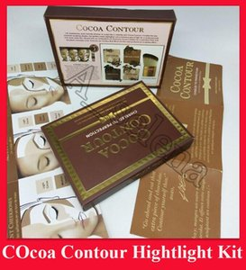 Faced Cocoa Contour Chiseled zur Perfektion Highlighters Gesicht Contouring 4 Farbe mit Pinsel Hervorhebungen Makeup Kit