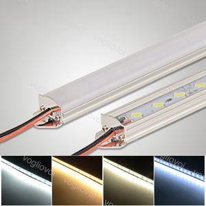 Luces de barra LED 18W DC12V SMD5730 1M Alojamiento de la lámpara dura para la exhibición de la exhibición Joyería de la exhibición DHL
