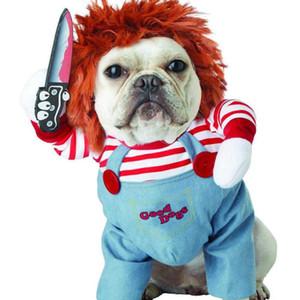 Pet Köpek Cadılar Bayramı Giyim Köpekler Holding Bıçak Cadılar Bayramı Dayanıklı Kostüm Yenilik Komik Hayvan Kedi Partisi Cosplay Giyim Giyim