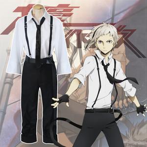 Japan Anime Unisex Bungo Stray Dogs Nakajima Atsushi Cosplay Tie Uniform Full Set (asiatische Größe)
