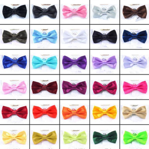 Men Solid Bow Ties Butterfly Gentleman Wedding Party 30 Colors Adjustable Wedding Prom boe tie FFA061 500pcs