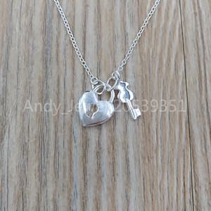 Auténticos 925 colgantes de plata esterlina de plata San Valentín collar adapta joyería oso estilo europeo regalo 015302500