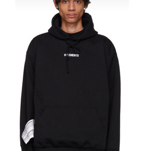 19FW VETEMENTS 2020 Autumn Winter Hoodie Label Letter Printed Pullovers Fashion Hooded Sweatshirt Highstreet Outwear HFYMWY257