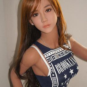 Alta calidad 140 cm 165 cm Tamaño real Real Sex Doll de silicona con pechos grandes juguetes sexuales para adultos vagina vagina coño Japonés amor muñeca
