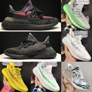 2020 Adidas yeezy 350 V2 Running Shoes Static Refective boost Chaussures de course Beluga 2.0 Sésame Beurre Semi Jaune Blanc Zebra Noir Hommes Femmes Sneaker 36-47