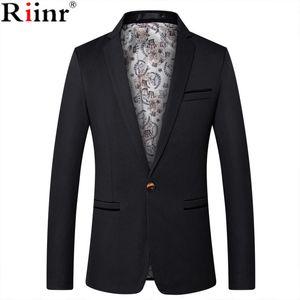 Riinr Erkek Moda Marka Blazer İngiliz Stil Casual Slim Fit Takım Elbise Ceket Erkek Blazers Erkekler Ceket Terno Masculino Artı Boyutu 5XL