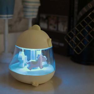 BRELONG Müzik Kutusu Dönen Müzik Nemlendirici Gece Lambası Masaüstü Dekorasyon Lambası çocuk Oyuncak Aydınlatma Beyaz / Pembe / Mavi