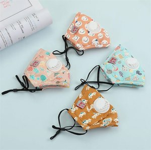 Fashion Children carton face mask Filter anti dust gas Hygiene mouth Mask Cotton Reusable masks with value germ protection for kids
