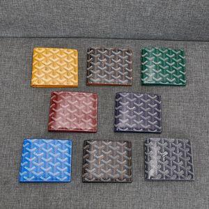 Nuovo portafoglio di scatola di cuoio sottile Goyarrd Le novità di qualità Vera pelle Classic Goyar Black Classic Chevron Multi-Slot Bi-Fold