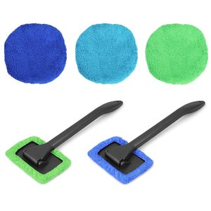 Cloths & Brushes Auto Window Cleaner Windshield Windscreen Microfiber Wash Brush Dust Long Handle Car Cleaning Tool Car Care Glass Towel