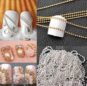 Nail Art Metal Catena Bellezza Salute 100 centimetri Oro Micro Perle d'argento Nail Linea punte acrilico DIY di scintillio della decorazione striping sfera