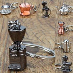 Nuovo stile Barista Espresso caffè Portachiavi mini decorazioni Accessori squisiti gioielli Sifone Pot Portachiavi auto Portachiavi Collezione M583Y