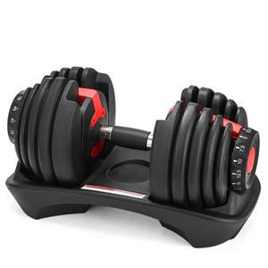Novo peso ajustável Dumbbell 5-52.5lbs fitness exercícios, halteres portáteis ajustáveis de desporto Peso com revestimento (single)