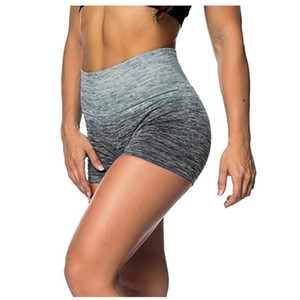 Yoga Shorts Tie-dye impressão Womens Elastic cintura alta Leggings apertado Esportes Shorts Yoga Leggings Tie-dye impressão