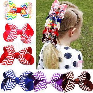 Bambini Big Big Solid Ribbon Capelli Arco per capelli con grandi Horquillas Para El Cabello Boutique Hairclip Accessori per capelli Accessori per capelli Pengnerini