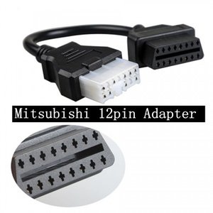 미쓰비시 무료 배송 미쓰비시 12pin OBD1 OBD2 커넥터 어댑터 높은 품질 전문 OBD2 진단 어댑터 케이블 12PIN