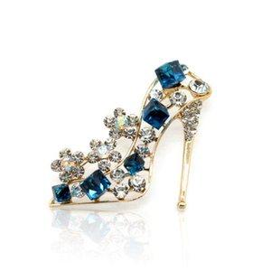 Luxury Crystal Shoe Scarpa con tacco alto Spille Pins per donna 2019 Nuova spilla sciarpa di seta per abito maglione