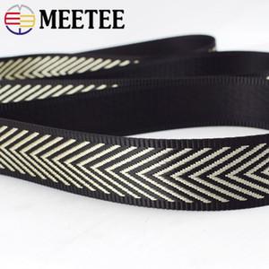 Meetee Nylon 38mm épais Jacquard 1.5mm Sangles Tapes Sac Strap Rubans ceinture pour vêtements bricolage Biais couture Accessoires RD168